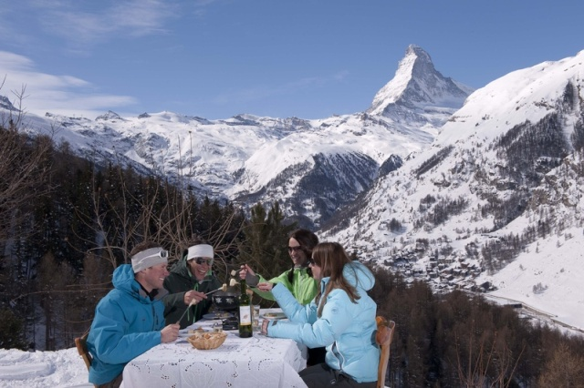 Zermatt Switzerland - Best ski resorts for mountain restaurants
