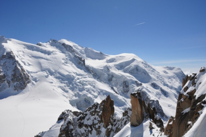 Snow-wise - Our complete guide to Chamonix - Chamonix's ski area - Mont Blanc from the Aiguille du Midi