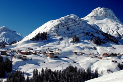 Warth-Schröcken, Austria - snowiest ski area in the Alps